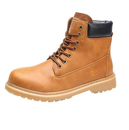Herren Damen Klassische Stiefel Mode Waterproof Wildledersohlen Hohe Boots Hohe Winterstiefel Winterschuhe Männer Worker Boots Profilsohle Flandell Gr.35-44 TWBB