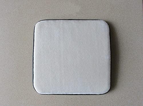 Lankfun Cojines de Asiento Redondos de Fieltro,Cojín de Felpa Rectangular para Silla de Oficina Pad-Creamy-White_35 * 25,Cojín para el Suelo