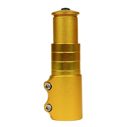 Bike Fork Stem Extender Bicycle Handlebar Riser Adapter for Mountain Bike Road  (Golden) - Andux QXCB-01