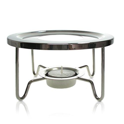 Finum POT WARMER Tee Stövchen aus Edelstahl - Design Teewärmer für TEA CONTROL & andere Teekannen - Teekannenwärmer für Teelicht - Warmhalter rund