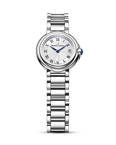 Maurice Lacroix Damen Analog Quarz Uhr mit Edelstahl Armband FA1003-SS002-110-1