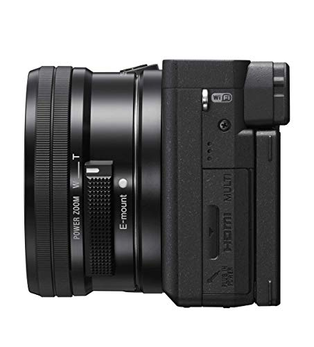 Sony α6400 E-mount compact mirrorless camera with 16-50mm Power Zoom Lens (APS-C Sensor, fast Auto Focus, Real-time Eye AF and Real-time Tracking, 4K HDR movie-shooting)