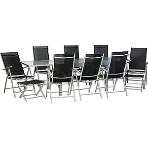 IB-Style® - Star-XXL Gartengarnitur Gartenmöbel Sitzgruppe Garten | Ausziehtisch mit Sicherheitsglas 135-270 cm…
