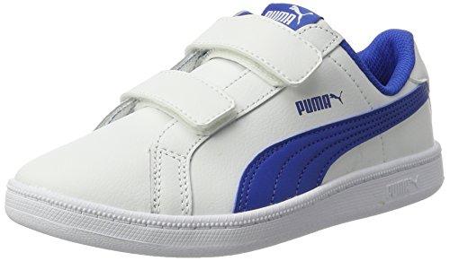 Puma Unisex-Kinder Smash Fun L V PS Sneaker, Weiß (White-Lapis Blue), 32 EU
