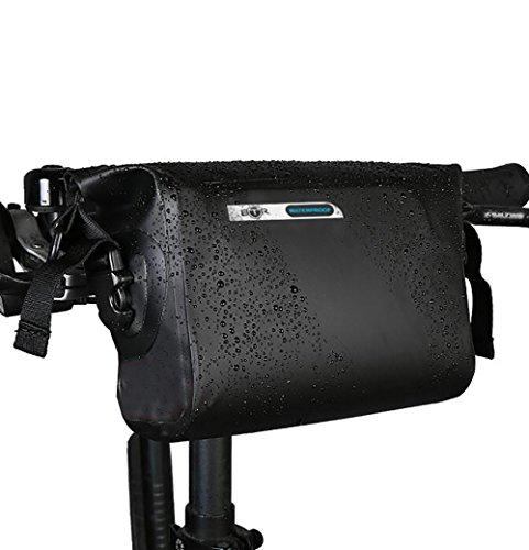 BTR Wasserfeste Allwetter Lenkertasche für jedes Fahrrad mit abnehmbaren Schultergurt. Fahrradtasche Wasserdicht Lenkertasche Fahrrad Wasserdicht