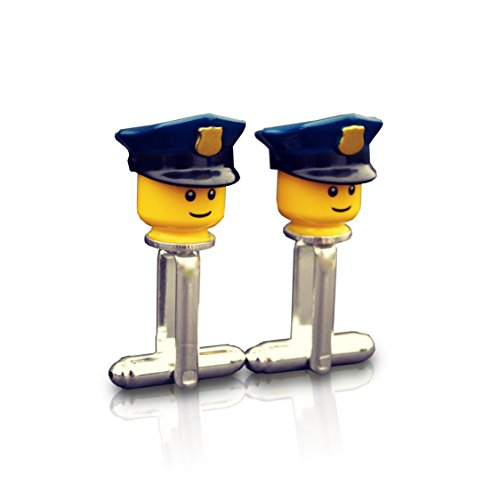SJP Cufflinks Gemelos hombre diseño policías Lego