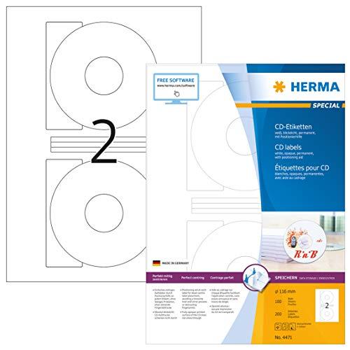 HERMA 4471 CD-/DVD-Etiketten ink...
