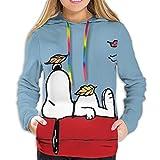 Snoopy - Sudadera con capucha y estampado 3D para mujer