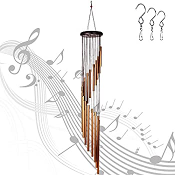Epartswide 36 Inch Garden Chimes with 18 Alloy Tubes and 3 S Hooks