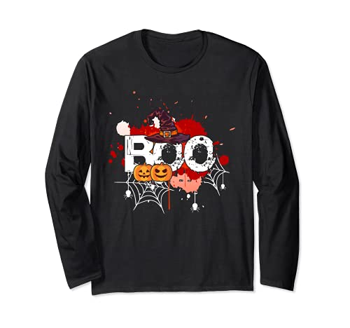 gift card deals still live grab last minute savings today Boo - Witch & Pumpkin Horror Night Costume Gift Long Sleeve T-Shirt