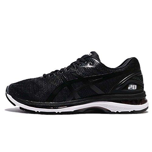 ASICS - Chaussures Gel-Nimbus® 20 (4E) pour Hommes, 44.5 4E EU, Black/White/Carbon