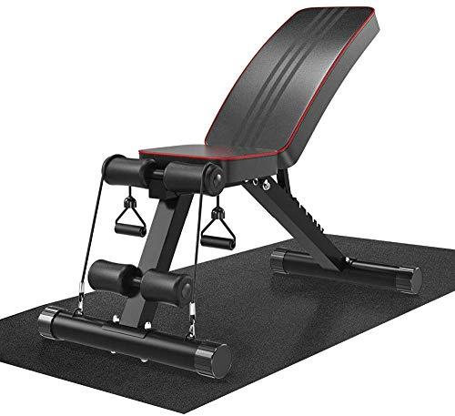 Dripex Bodenschutzmatte mit hoher Dichte Fitnessmatte für Heimtrainer, Hantelbank, Dip-Station und andere Fitnessgeräte