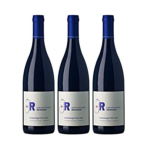 Johanneshof Reinisch Grillenhügel Pinot Noir Thermenregion Rotwein Biowein veganer Wein trocken (3 Flaschen)