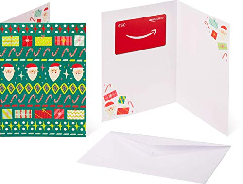 Amazon.de Geschenkkarte in Grußkarte - 30 EUR (Hässlicher Weihnachtspulli)