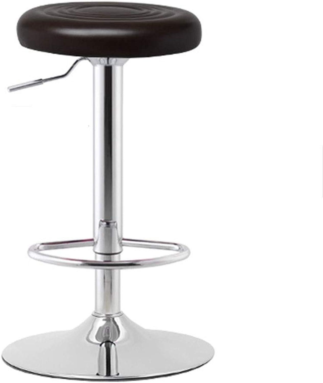 Desk Chairs Bar Chair Office Chair Home Versatile Chair Breakfast Chair Beauty Salon Stool Lift Chair 360° redation Can Bear 100 Kg (color   Black A, Size   38.5  60-80cm)