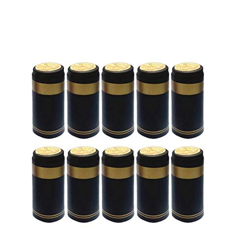 KGMIXL Duradero 100 unids Cápsulas de Encogimiento de Calor de PVC con pestaña de lágrimas para Botellas de Vino Tapón termochable con cápsula de Vino Shrink Wrap para la Boca Recta para Botellas