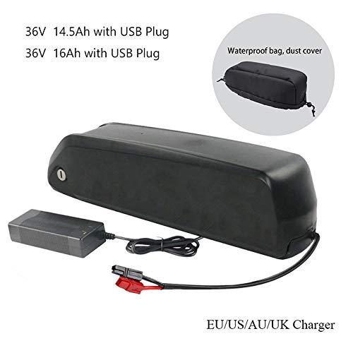 NUEVA batería de bicicleta 36V14.5Ah / 36V16Ah Batería de bicicleta eléctrica de iones de litio Batería eléctrica de bicicleta en tubo descendente 36V14.5Ah / 36V16Ah baterías de Mountain Bike,36V16Ah