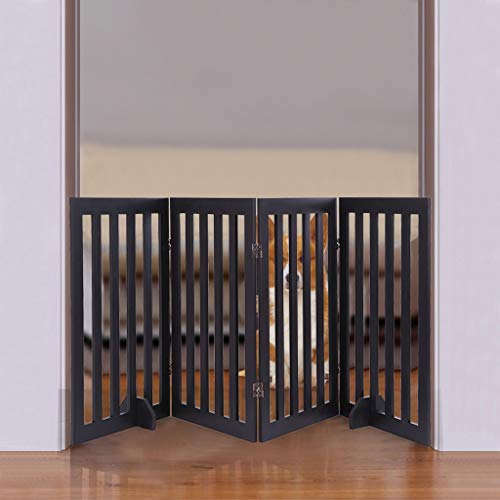 Pet fence,four-layer folding fence,Standing Folding Indoor Pet Dog Gate Stairs Puppy Gate Step Over Safety Fence,Best Dog Gate with Arched Top,dog gates for the house extra wide (US Eastern Warehouse)