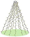 Elegear Luces Arbol Navidad, 2M 400LED Cadena Luces IP44 Impermeable Decoración de Navidad de Guirnalda Luces, 8 Modos de Luz con Función de Memoria Luz Exterior para Navidad / Boda(Blanco Cálido)