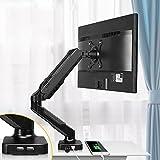 Soporte de Monitor Monitor de soporte de soporte de soporte de monitor único negro Montaje de soporte con interfaz USB de 11.6 pulgadas Altura Ajuste de gas Soporte de monitor de resorte, sostiene 4.4