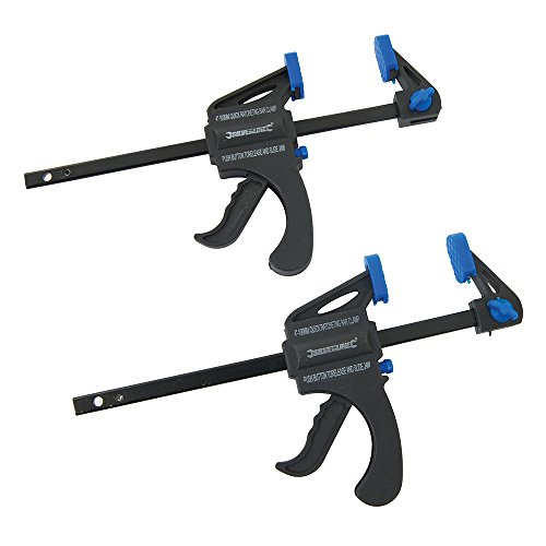 Silverline 250108 Mini Clamps 100 mm - Pack of 2