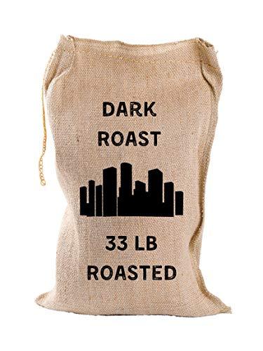 Iron City Coffee Bulk Roasted Coffee Whole Beans, Dark Roast, 33 Pounds Specialty Craft Coffee