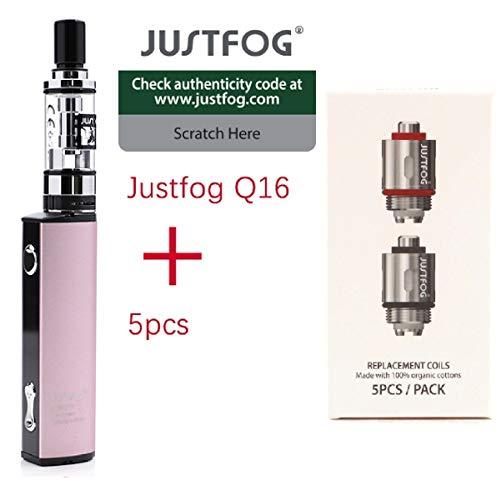 ✅100% AUTENTICO✅ sigaretta elettronica justfog q16 kit completo (PINK) + 5 resistenze justfog 1.6ohm il prodotto senza tabacco senza nicotina (Q16 KIT + 5 resistenze)