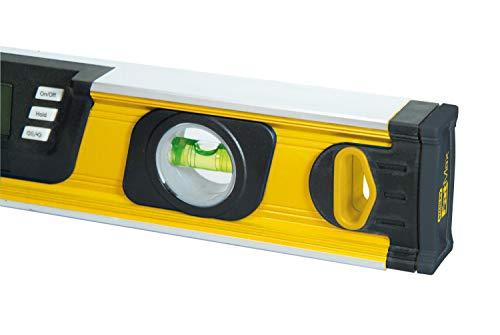 Stanley FatMax digitale Wasserwaage 60cm 0-42-065 – Neigungsmesser – Hohe Messgenauigket & Messbereich – Messung in Grad – Prozent – mm/m