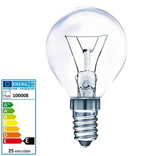 Müller Licht Tropfenlampe Backofen 300 Grad Celsius E14 230 Volt 25 Watt klar