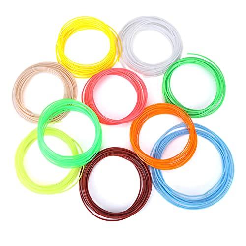 3D Printer Filaments Refills - 20 Colors 1.75mm PCL Filament Refills For 3D Printer Printing Pen Low Temperature