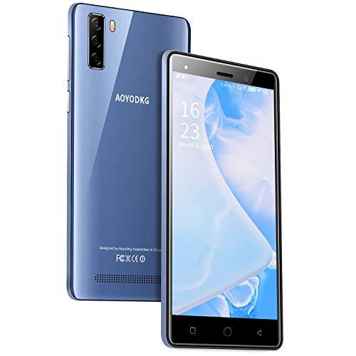 4G Telephone Portable debloqué, 16Go ROM/64 Extensible, Android 9,0, 5.0 Pouces Smartphone Pas Cher, Dual SIM 5MP+ 8M Téléphone Portable Pas Cher WiFi/GPS/Bluetooth (Bleu)