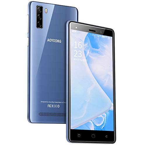 Smartphone Ohne Vertrag AOYODKG A10+(2020), 4G Handy 5,0 Zoll 1GB+16GB Internal Speicher, Dual Kameras, Dual-SIM Telefon entsperrt Simlockedfreie Smartphones für Android 9.0 - Blau