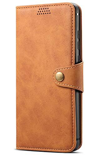 SUTENI Custodia Huawei P30 (6,1'), Étui Portefeuille avec fente pour carte, housse de protection avec fonction support, Marrone