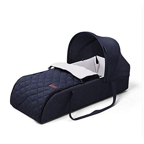 Nai-storage Berceau Portable, Chambre Salon Balcon du Nouveau-né Sommeil Anti-Pression Lit - Pique-Nique Camping Portable Voyage Momie Panier (Color : Blue, Size : 75 * 46 * 18cm)