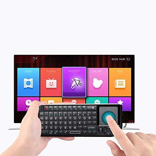 AZLMJXH Tastatur New Mini 2.4G Wireless Mit Touchpad-Hintergrundbeleuchtung Geeignet Für Smart TV Geeignet Für LG Panasonic Android TV Box PC Laptop HTPC