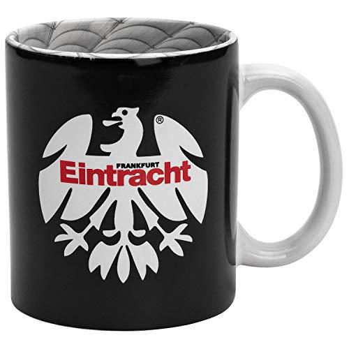 Eintracht Frankfurt Tasse - 80er Logo mit Stadion Innendruck - Kaffeetasse, Kaffeebecher SGE - Plus Lesezeichen I Love Frankfurt