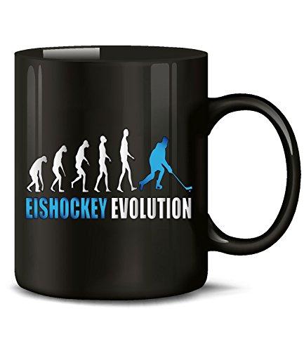 Golebros Eishockey Evolution Wintersport 528 Icehockey Geburtstag Geschenk Fun Tasse Becher Kaffeetasse Kaffeebecher Schwarz-Blau