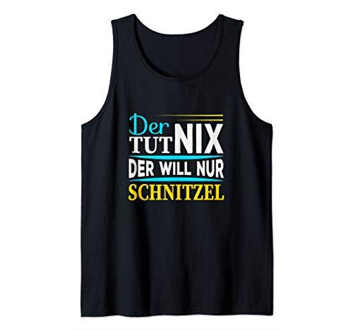 Der tut nix der will nur Schnitzel I Lustiger Spruch Männer Tank Top