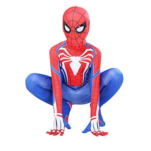 GUOHANG Traje de Spiderman niños Adultos 3D Anime Spiderman Traje Traje Medias Escenario Rendimiento casero Disfraces de Halloween Carnaval Cosplay disfrazaje Fiesta,Style 4,120~130CM