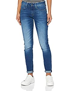 G-STAR RAW Damen Jeans 3301 Deconstructed Skinny, Blau (Medium Aged 9874-071), 28W / 32L