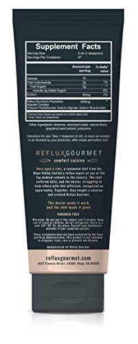 Reflux Gourmet - Vanilla Caramel Rescue All-Natural Alginate Therapy, Provides Reflux Relief, Natural Supplement for GERD, LPR, Heartburn Relief, Safe for Children and Pregnant Women.