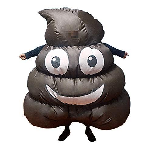 thematys Aufblasbarer Kackhaufen Kacke Kostüm - Lustiges Luftkostüm für Erwachsene 165cm-185cm - Perfekt für Karneval, Junggesellenabschied oder Halloween