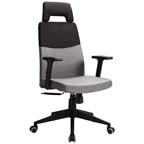 Duwen. Drehbarer Bürostuhl Bürostuhl Ergonomischer Schreibtischstuhl Mesh Computerstuhl Lordosenstütze Modern Einfach einstellbar Home Drehstuhl Computer Schreibtischstuhl (Color : Black+gray)