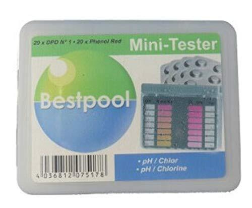 Pool Wasser Test Chlor & PH Wert Qualität prüfen Tester Prüfer 40 Rapid Tabletten Set Testtabletten