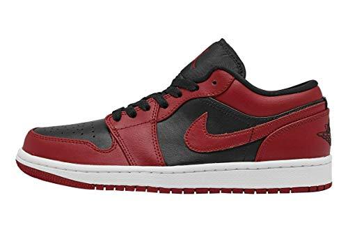 Nike Herren AIR Jordan 1 Low Basketballschuh, Gym Red Black White, 44 EU