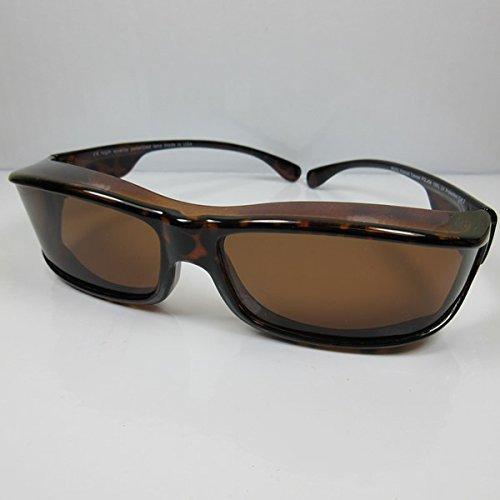 REVEX polarisierte Überbrille Sonnenbrille für Brillenträger havanna-braun CAT3