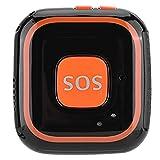 Heayzoki Mini GPS Tracker, Mini Localizador de intercomunicador bidireccional, aplicación de Alarma SOS Personal para niños GPS para Personas Mayores/niños y Personas Especiales(Black)