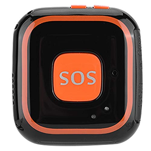 Bewinner Mini GPS Tracker, Portable Locator for Kids Personal SOS Alarm APP Tracking and Push-Button Calling Two-Way Intercom Locator for Kids Safety(Black)