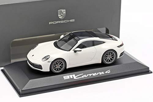 Minichamps Porsche 911 (992) Carrera 4 weiß / schwarz 1:43