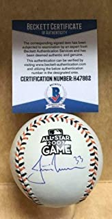 Justin Morneau Minnesota Twins Autographed Signed 2007 All Star Game Baseball Beckett H47862